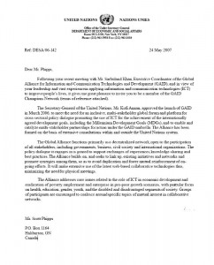 United Nations Letter of Recommendation - Part 1